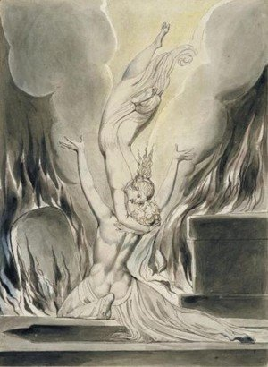 William Blake - The Reunion Of The Soul and The Body