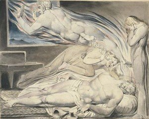 William Blake - Death Of The Strong Wicked Man