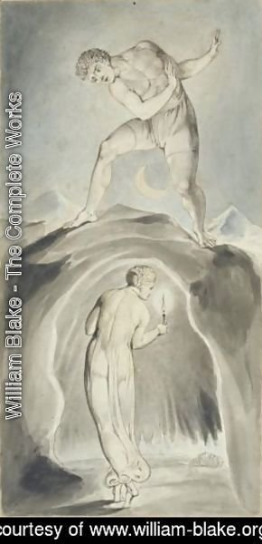 William Blake - The Soul Exploring The Recesses Of The Grave