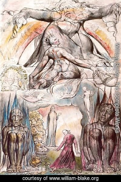 William Blake - Illustration to Dante's Divine Comedy, Hell 2