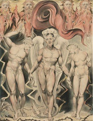 William Blake - Illustration to Milton's Paradise Lost