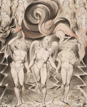 William Blake - Illustration to Milton's Paradise Lost 2