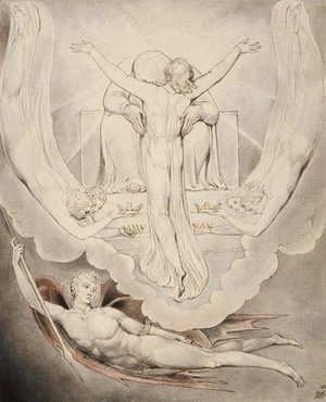 William Blake - Illustration to Milton's Paradise Lost 3