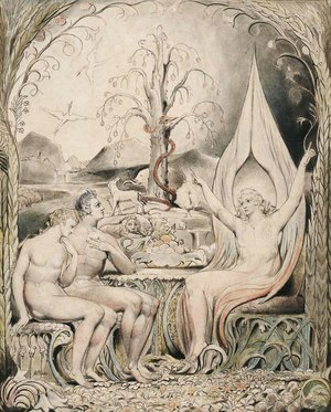 William Blake - Illustration to Milton's Paradise Lost 4