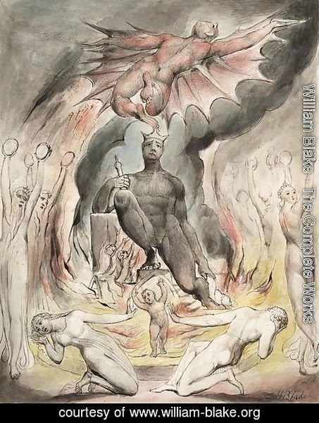 William Blake - Illustration to Milton's On the Morning of Christ's Nativity 2