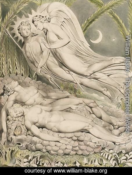 William Blake - Illustration to Milton's Paradise Lost 6