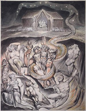 William Blake - Illustration to Milton's On the Morning of Christ's Nativity 3