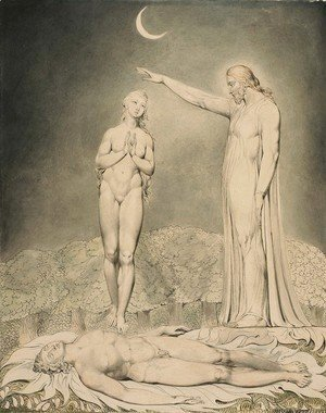 William Blake - Illustration to Milton's Paradise Lost 7