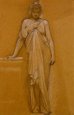 William Blake - Study of a Classical Maiden
