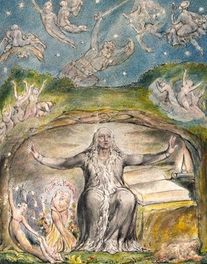 William Blake - Illustration to Milton's L'Allegro and Il Penseroso
