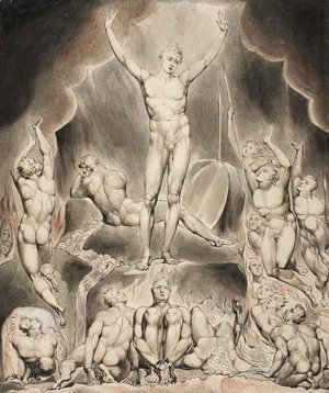 William Blake - Illustration to Milton's Paradise Lost 9