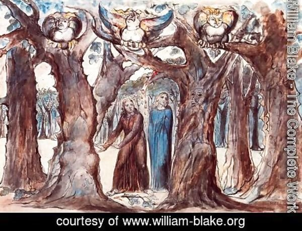 William Blake - Illustration to Dante's Divine Comedy, Hell 5