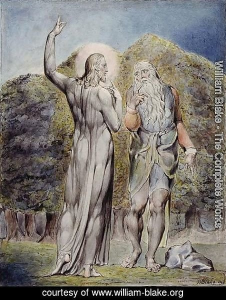 William Blake - Christ Tempted by Satan to Turn the Stones to Bread