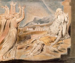 William Blake - Illustration to Book of Job 2