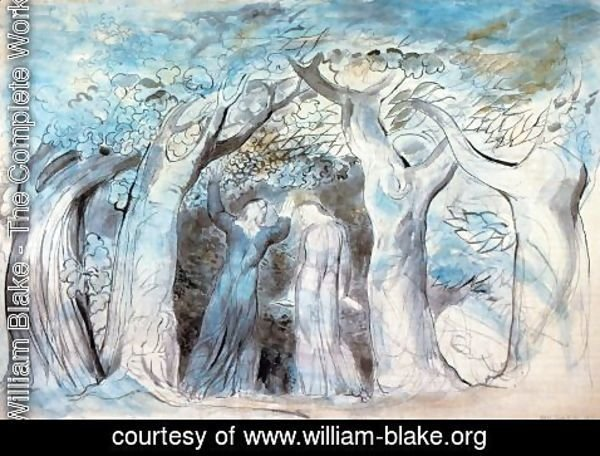 William Blake - Illustration to Dante's Divine Comedy, Hell 6