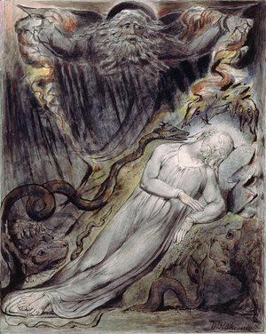 William Blake - Illustration to Milton's Comus 4