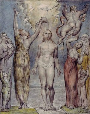 William Blake - Illustration to Milton's Comus 5