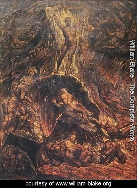 William Blake - Satan Calling Up his Legions