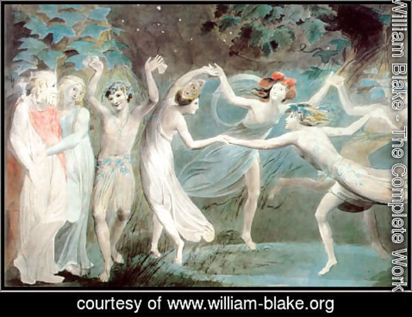 William Blake - Oberon, Titania and Puck with Fairies Dancing 2