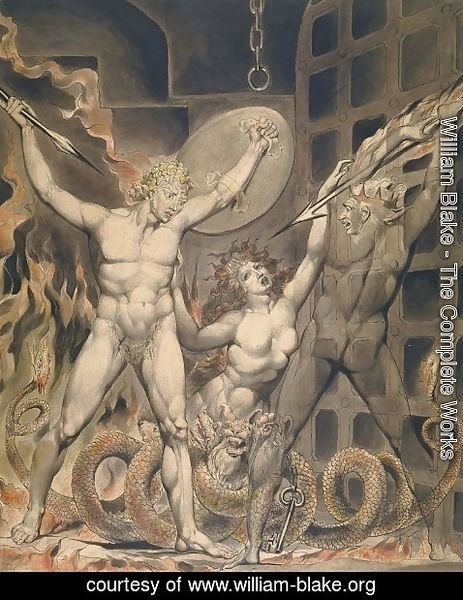 William Blake - Illustration to Milton's Paradise Lost 10