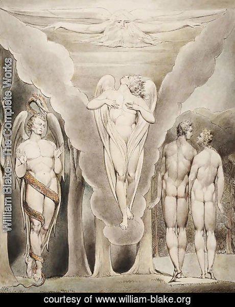 William Blake - Illustration to Milton's Paradise Lost 11