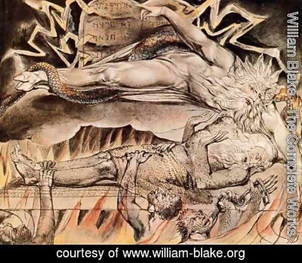 William Blake - Illustration to Book of Job 3
