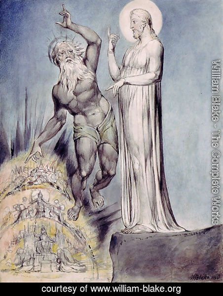 William Blake - Illustration to Milton's Comus 6