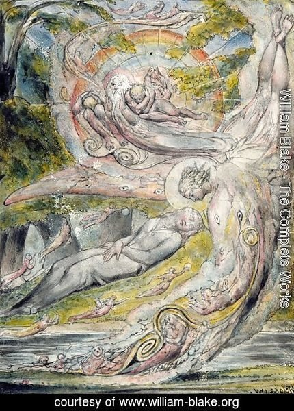 William Blake - Milton's Mysterious Dream