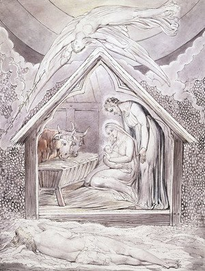 William Blake - Illustration to Milton's On the Morning of Christ's Nativity 5