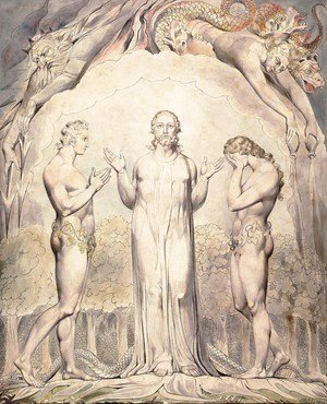William Blake - Illustration to Milton's Paradise Lost 12
