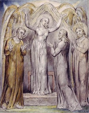 William Blake - Illustration to Milton's Paradise Regained