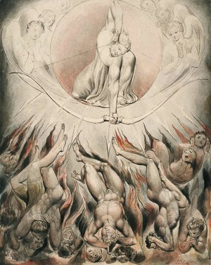 William Blake - Illustration to Milton's Paradise Lost 13