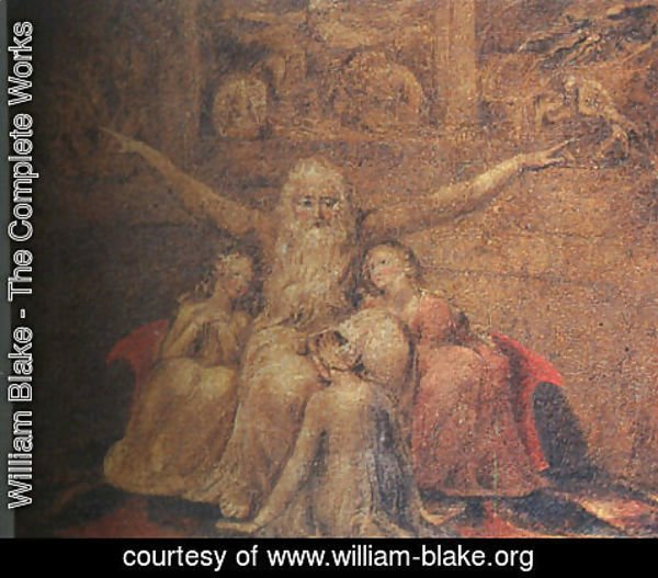 William Blake - Job and his Daughters 1799-1800