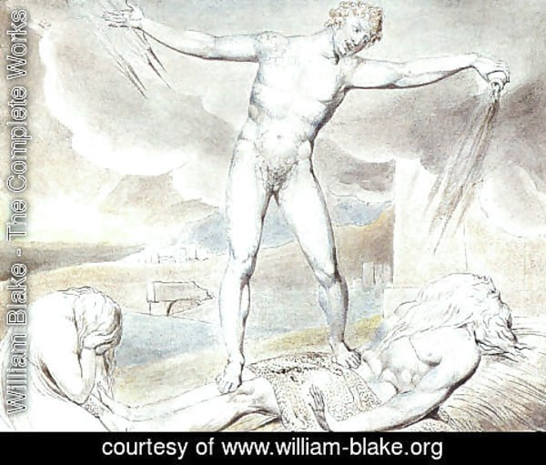William Blake - Satan Smiting Job with Boils 1826