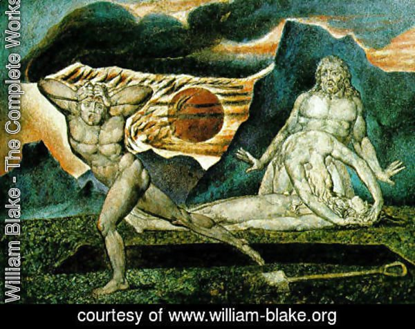 William Blake - The Body of Abel Found by Adam & Eve 1825