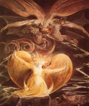 William Blake - The Great Red Dragon and the Woman Clothed with the Sun 1805-1810