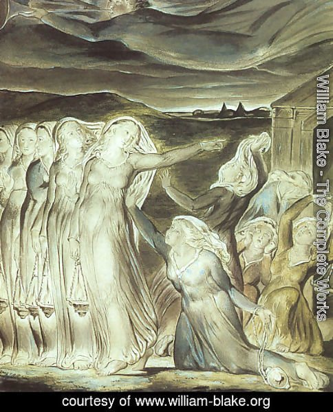 William Blake - The Parable of the Wise and Foolish Virgins 1822