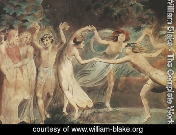 William Blake - Oberon, Titania and Puck with Fairies Dancing