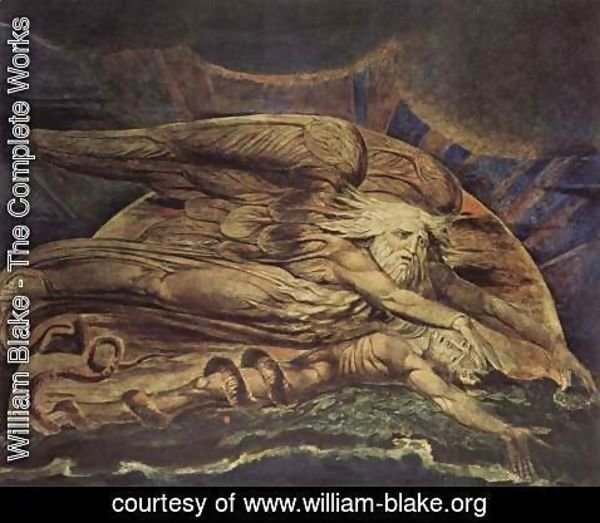 William Blake - Elohim Creating Adam