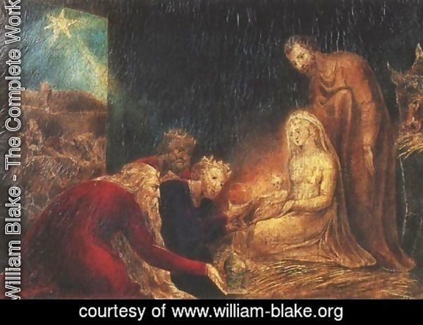 William Blake - Adoration of the Magi